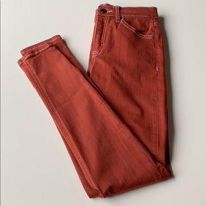 Topshop Moto Jamie Skinny Jeans Rust